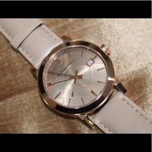Burberry Unisex Leather Watch